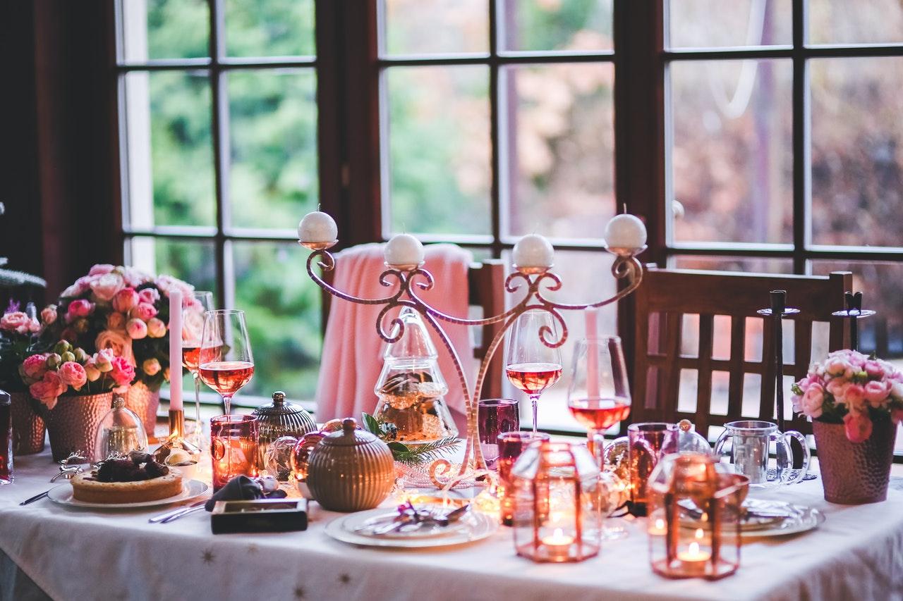 romantisch diner eettafel